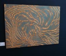 Gold seam, acrylic on canvas