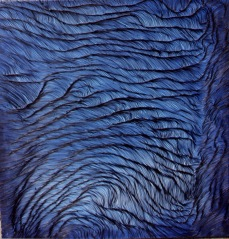 Grand bleu, oil on canvas