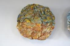 Geomancy, mixed media on aluminium