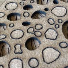 discs cork laser cut